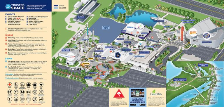 Космический Центр НАСА карта